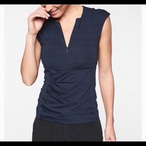 ATHLETA PACIFICA WRAP FRONT TANK size XSmall